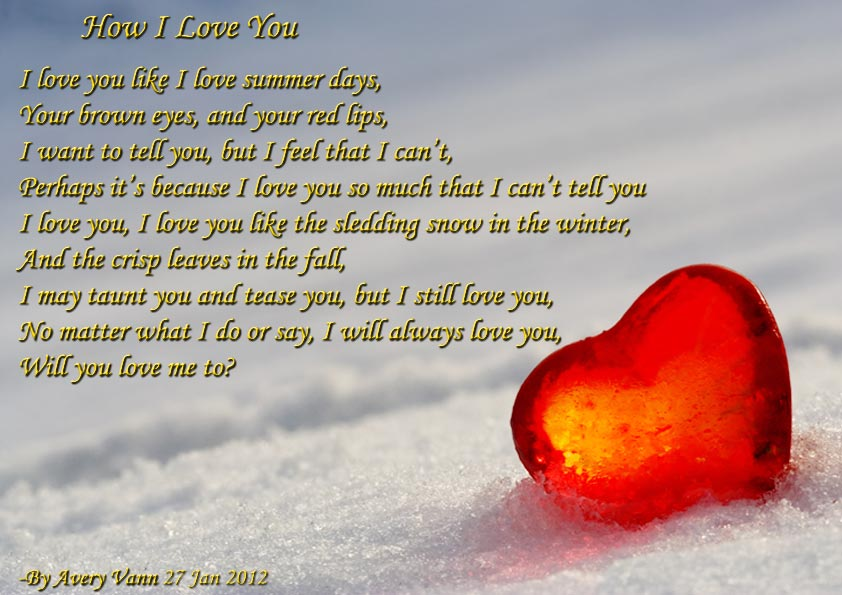 I Love You So Much Poems And Quotes