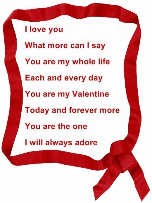 valentine day poems, Ideas