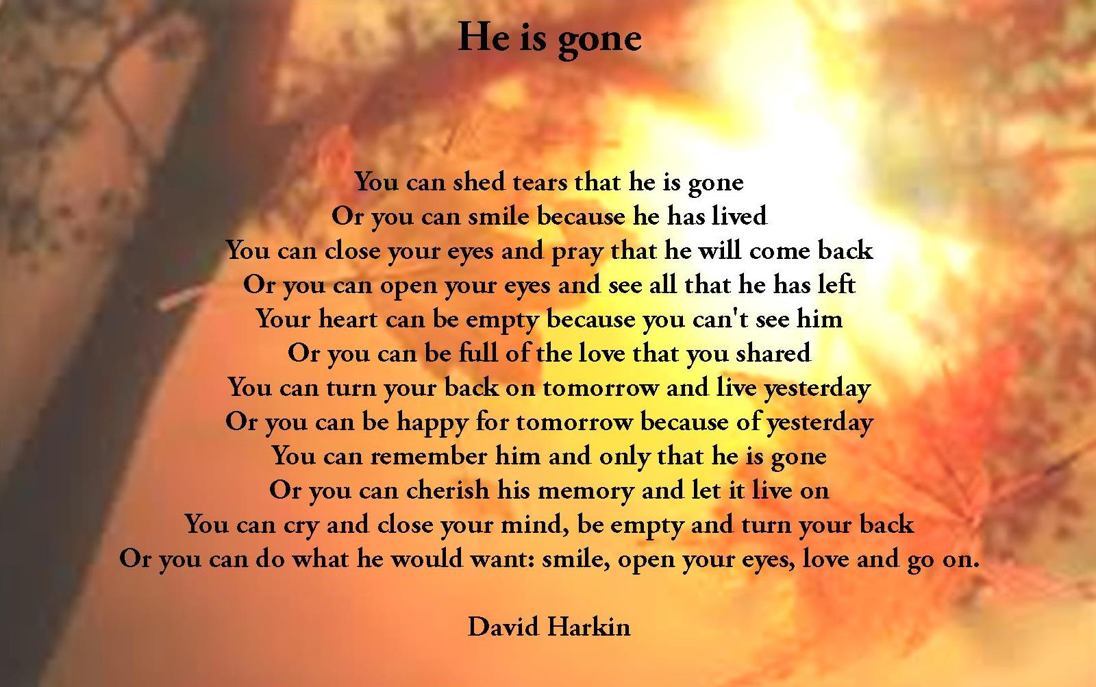 Quotes For Funerals Commemorative Poems Poems