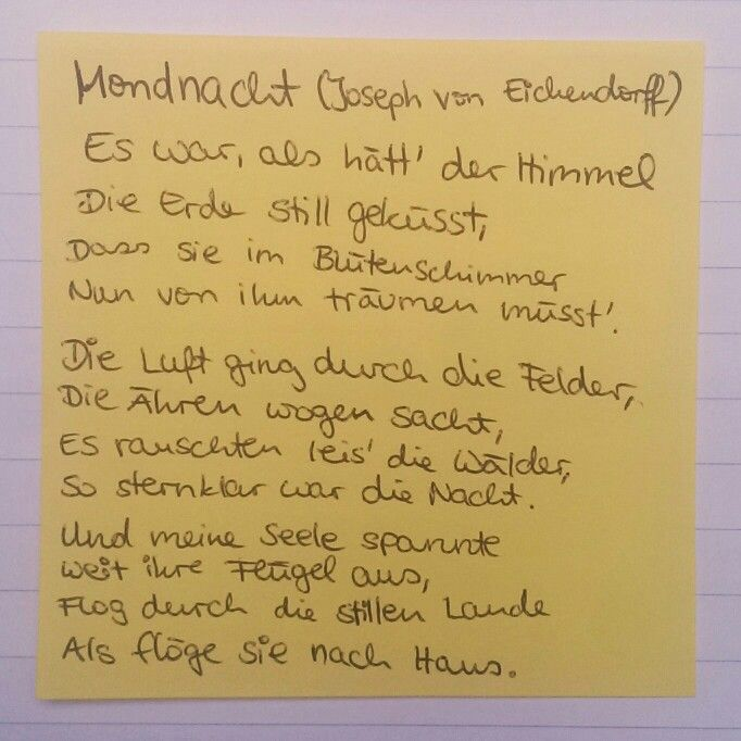 poetry analysis joseph von eichendorff 6 sept 2014  in joseph von eichendorffs 1818 veröffentlichter novelle »das marmorbild«  durchlebt der protagonist die für die literaturepoche der romantik.