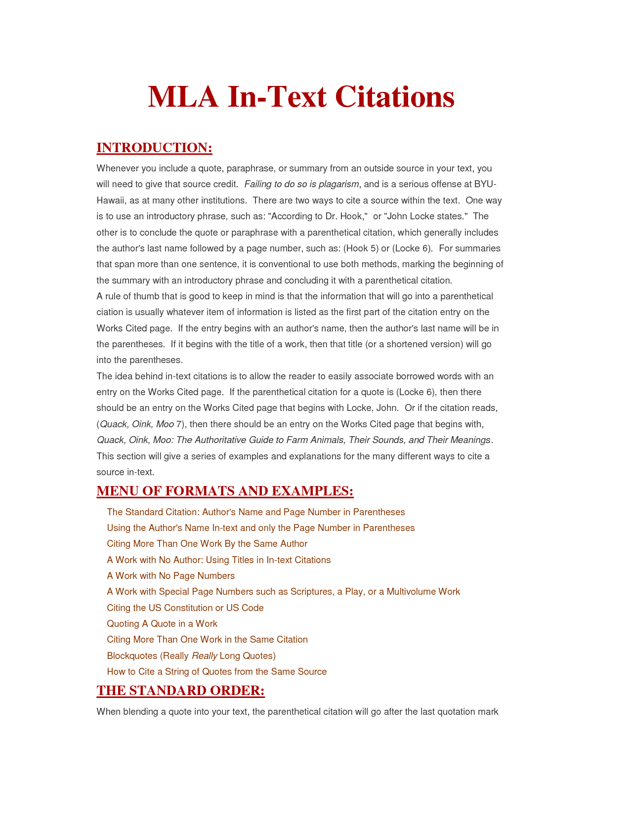 how to use citations in a paper mla