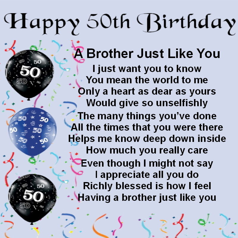 50 Birthday Quotes For Friend: Happy Birthday Brother Poems