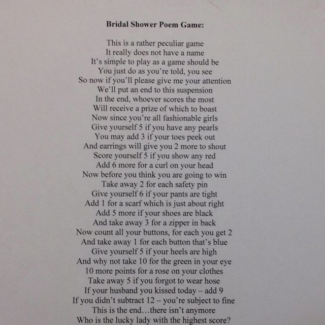 Baby Shower Pass Gift Game Poem Archives Baby Shower DIY