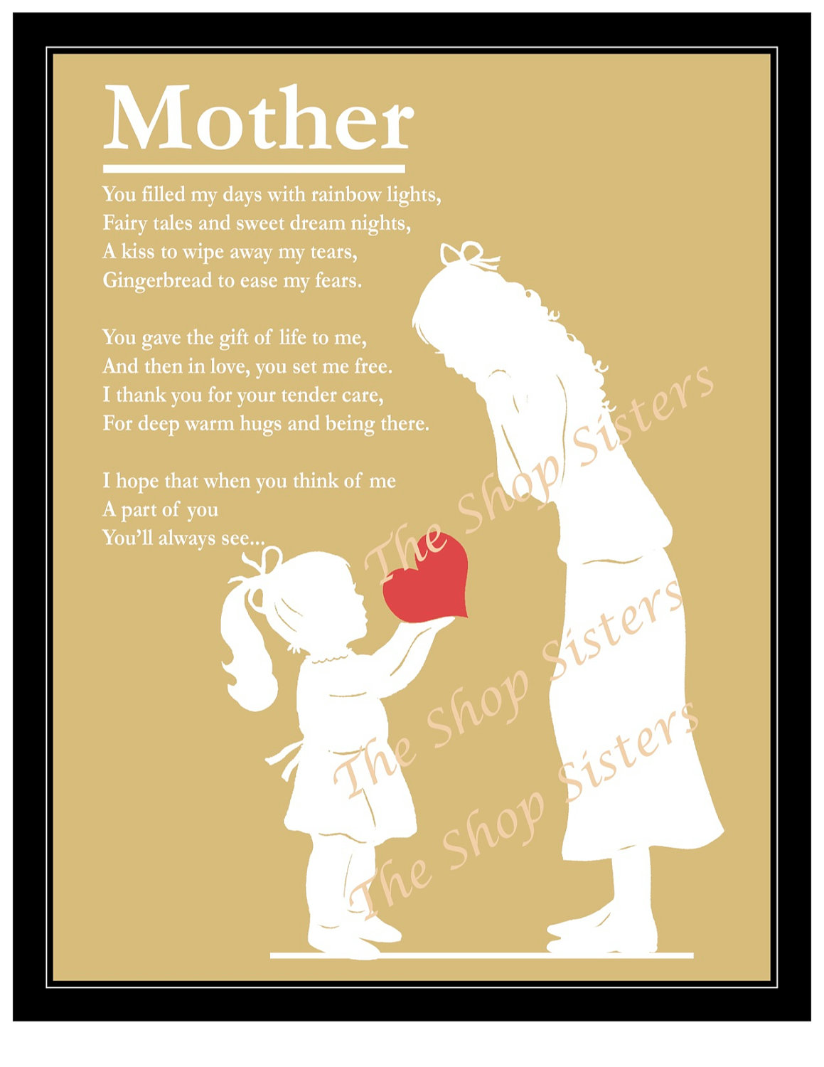 poem about a mother and daughter relationship