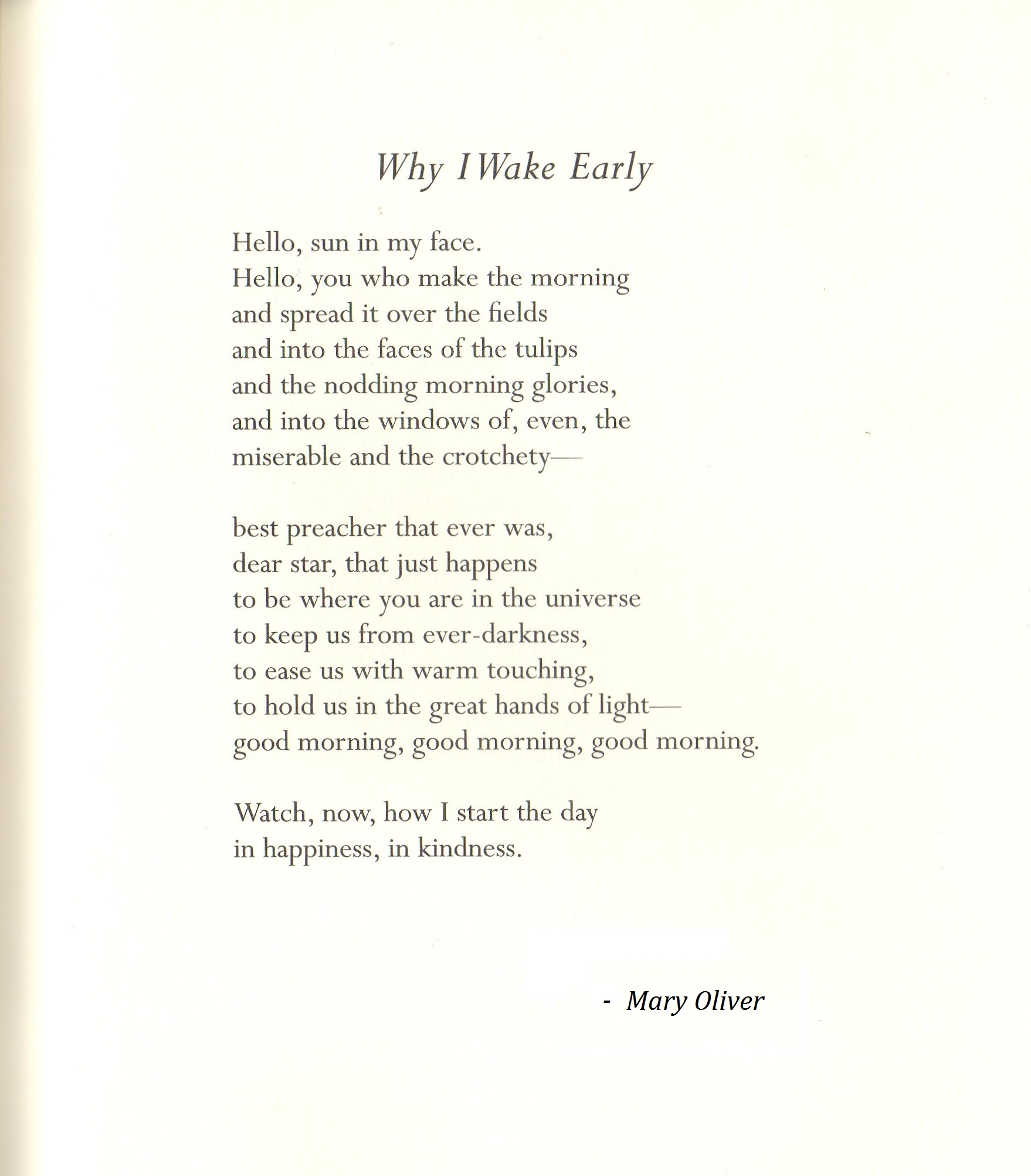 Mary Oliver Love Quotes Early Poems Poems