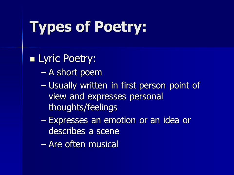 Lyric lyric poem examples : Examples of lyric Poems