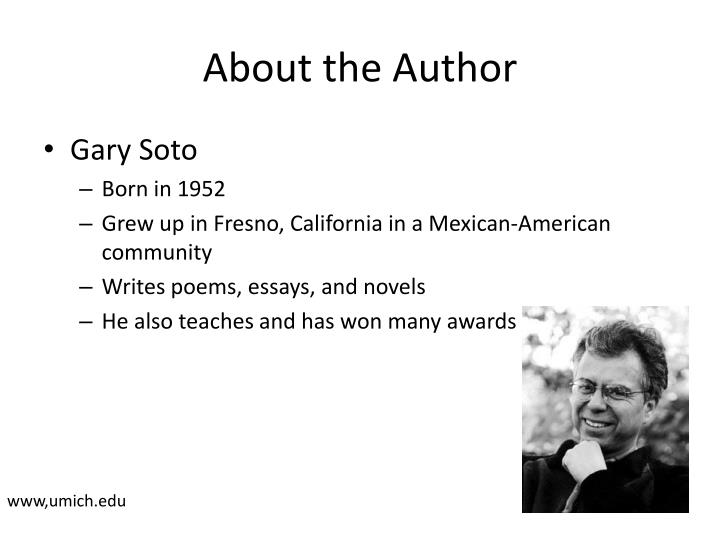 "looking for work by gary soto essay Well in the story ""the broken chain"" by gary soto a boy named alfonso looking for work by gary soto haven't found the essay you want."