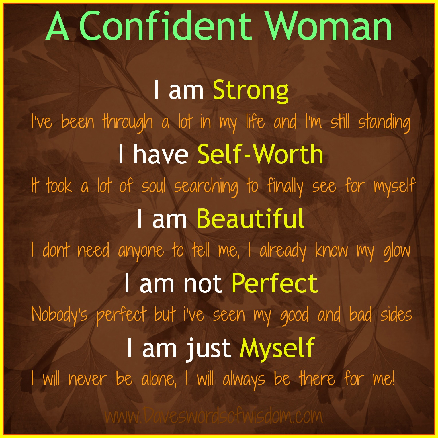 Quotes About Being Confident Confidence Poems