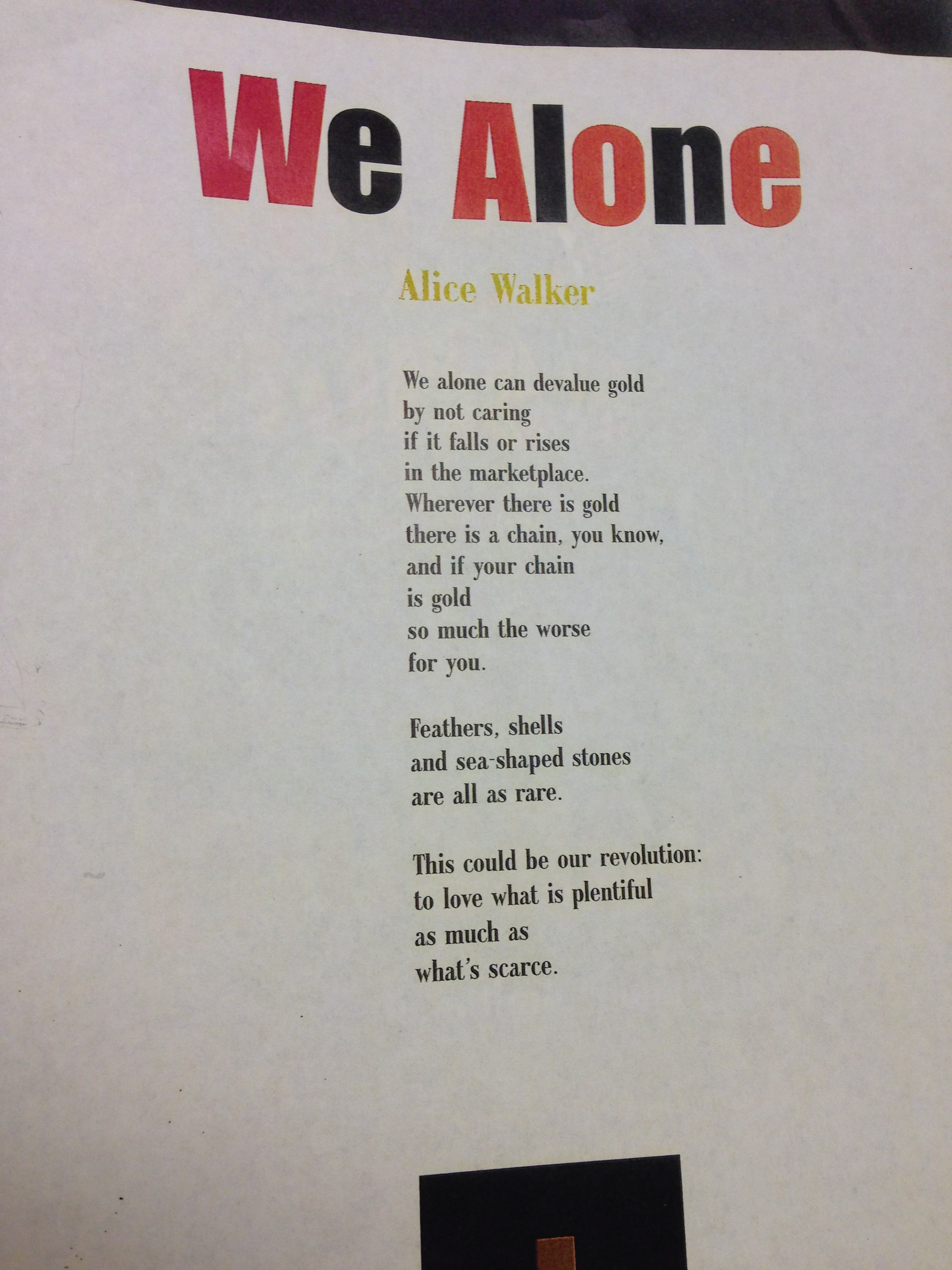 the portrayal of the theme of the american dream in alice walkers poems Yet alice walker chose this as the central theme of her because of her raw portrayal of african american struggles more about alice walker's journey with.