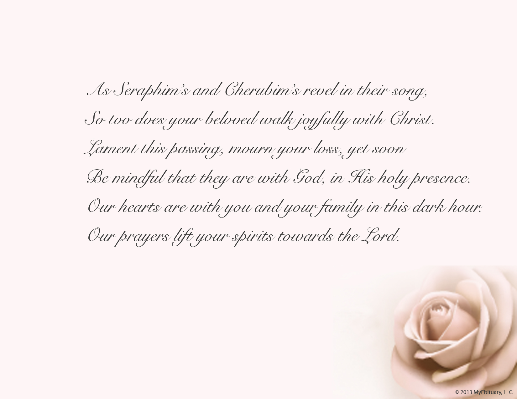 Poem Searcher Discovery Engine  Funeral Words For Cards