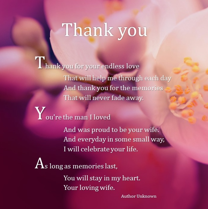 Husband funeral Poems Poems