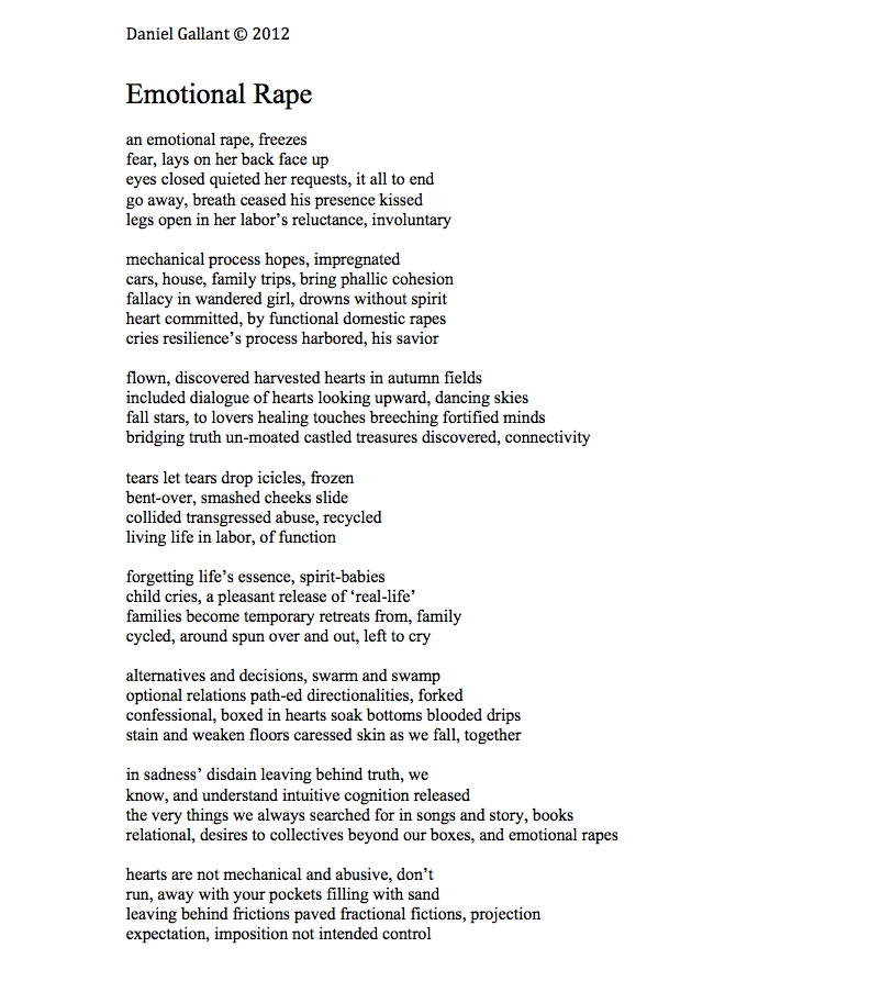 Poems About Being In An Emotionally Abusive Relationship