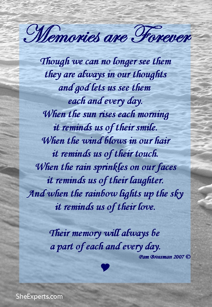 Loving Memories Quotes Adorable In Memory Poems