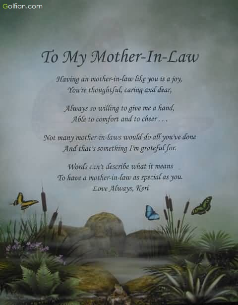 Mothers Day Quotes From Daughter In Law Mother in law Poems