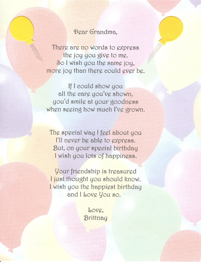Quotes 60Th Birthday Grandmother Poems