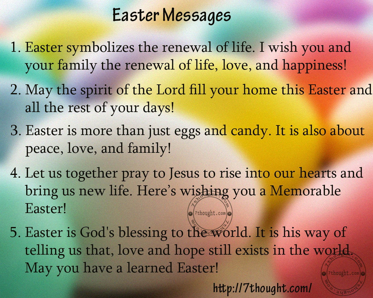 Easter message bible christian easter greetings messages gallery greeting card examples kristyandbryce Gallery