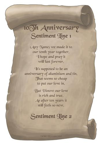 10th anniversary Poems Poems