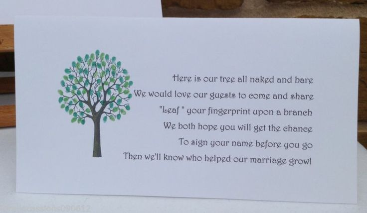 Fingerprint Tree Wedding Guest Book Instructions | Wedding Tips and ...