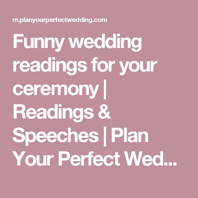Modern Funny Wedding Readings | Midway Media