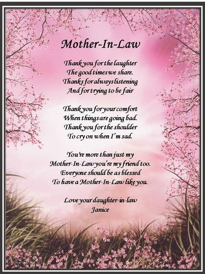 Mother In Law Poems