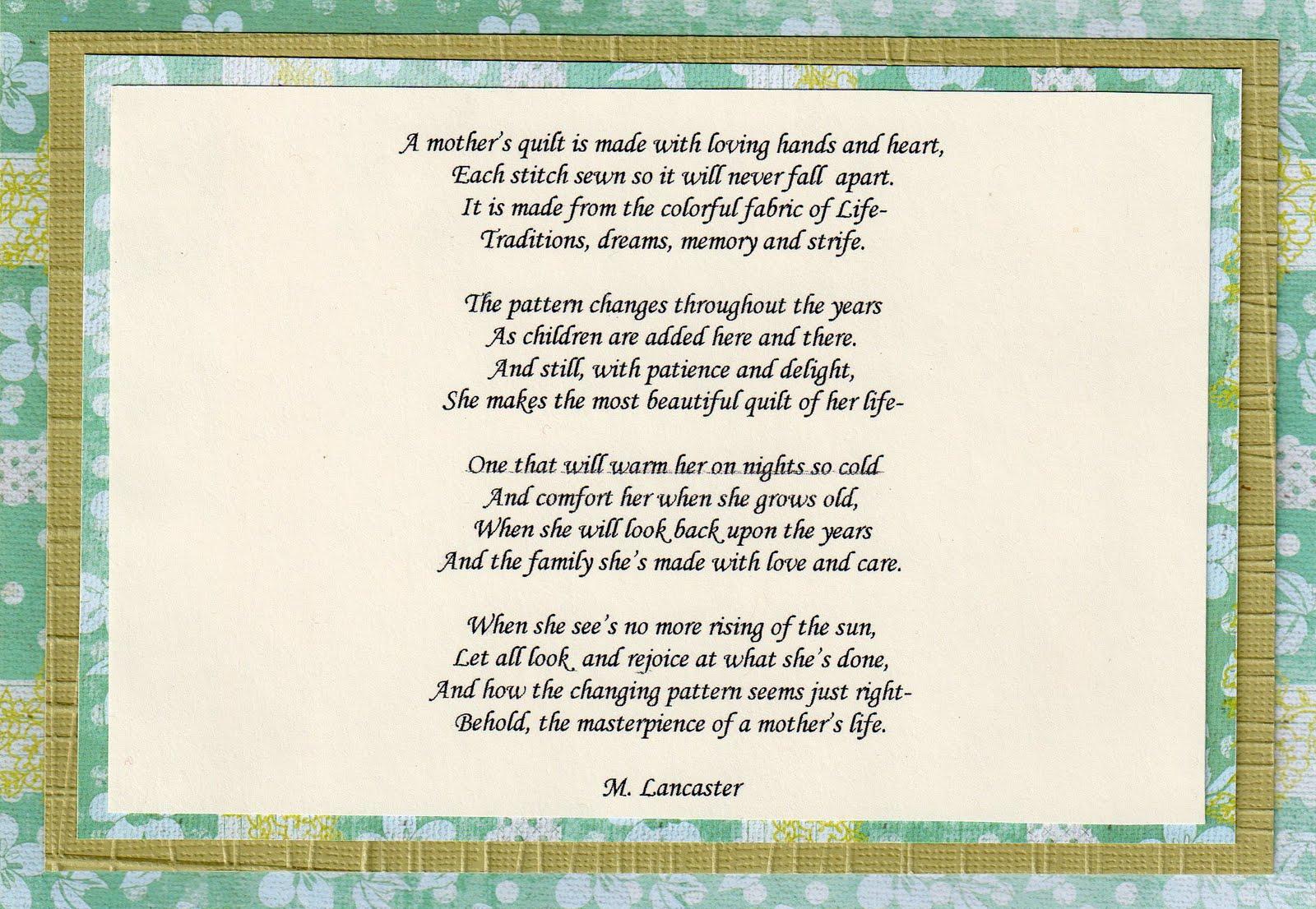 Quilt Poems Poems : memorial quilt quotes - Adamdwight.com