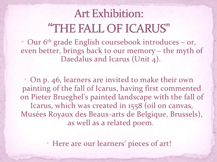 poetry and icarus Poems about icarus at the world's largest poetry site ranked poetry on icarus, by famous & modern poets learn how to write a poem about icarus and share it.