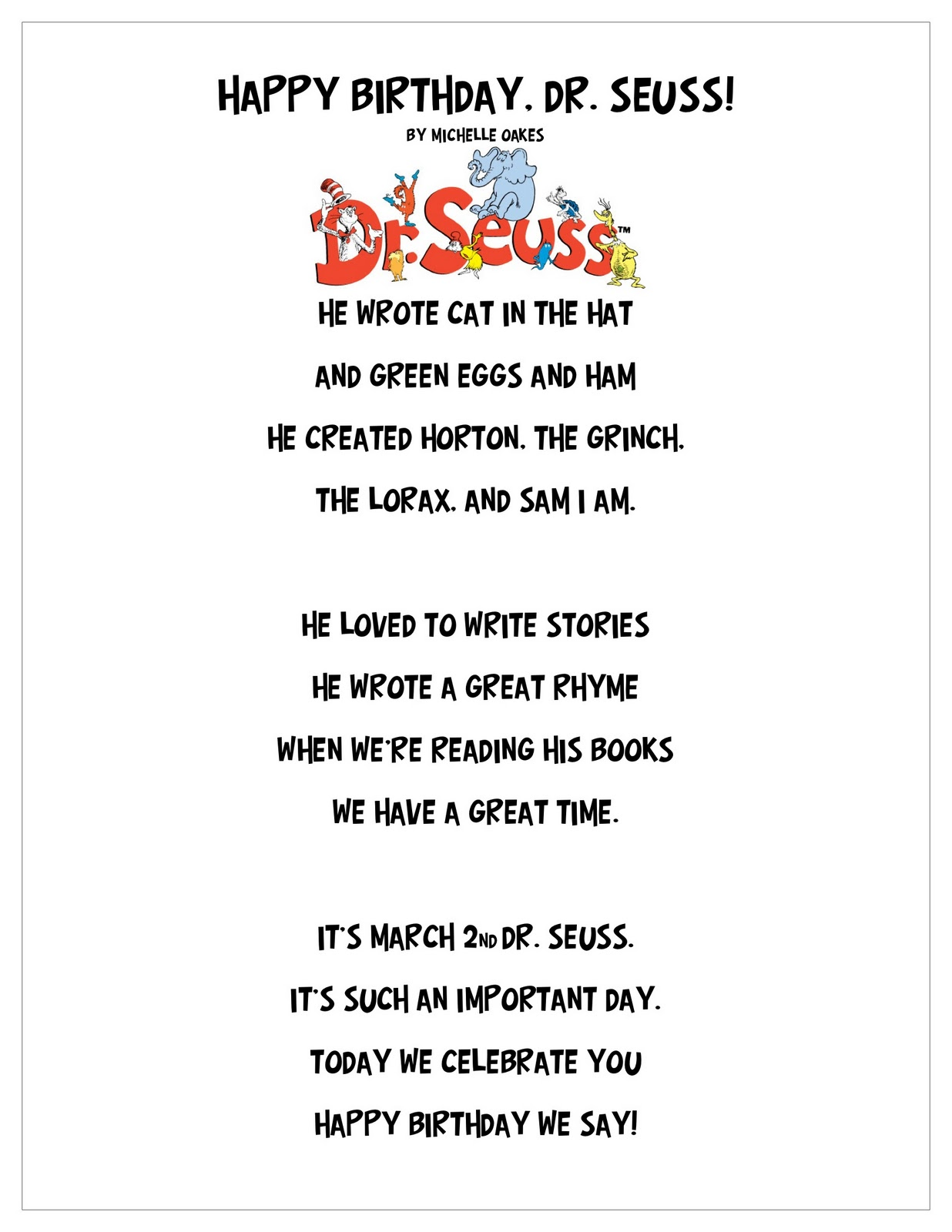 Dr Seuss Quotes About Friendship Used Poems Poems