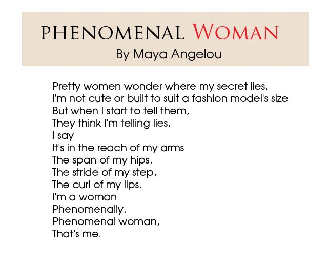 Phenomenal Woman Quotes Fascinating Woman Poems