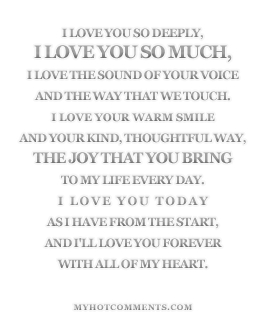 Poems On How Much I Love You