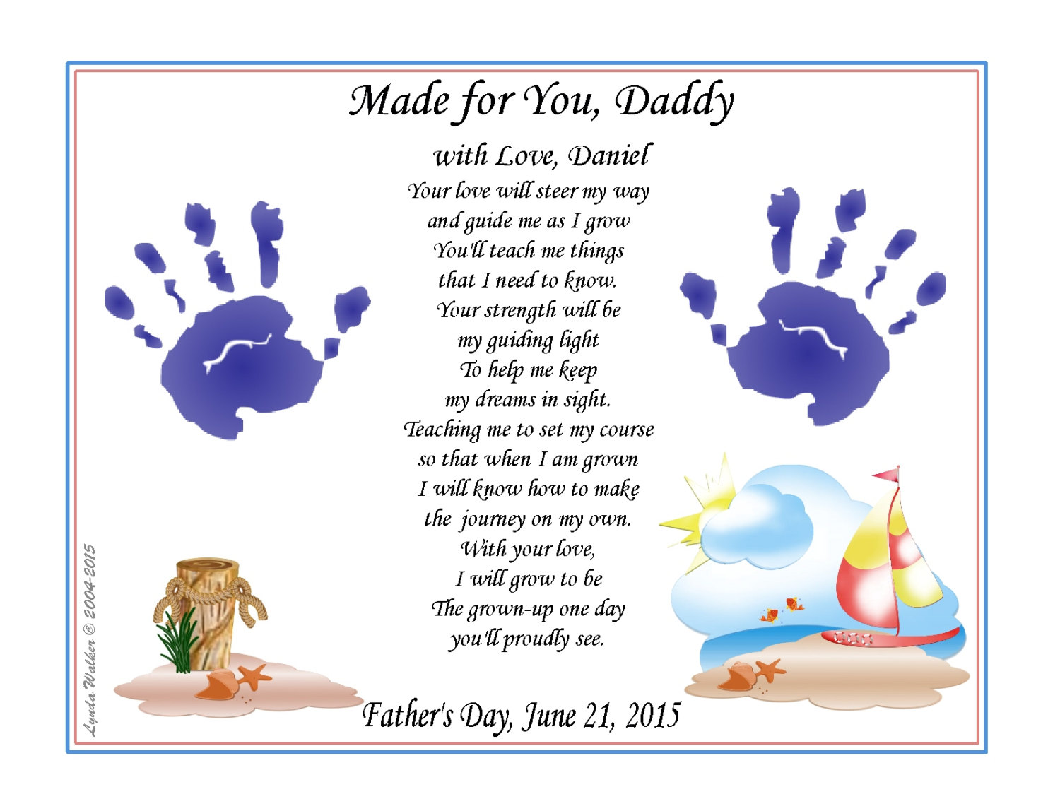 Guide My Way Daddy 8 X 10 Personalized Baby