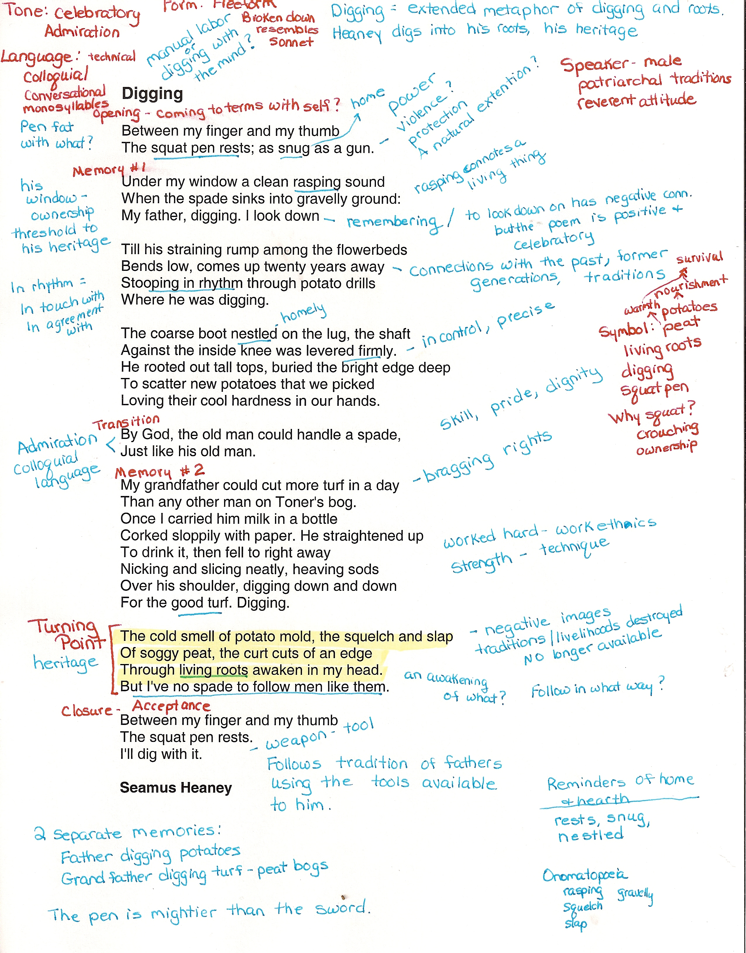 annotate poems poems