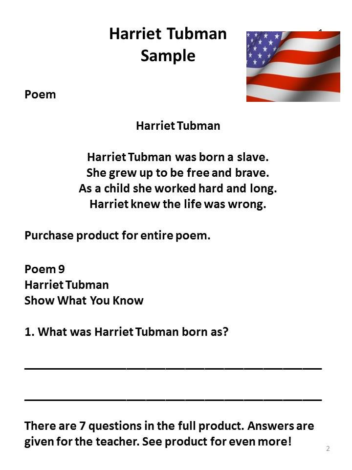 harriet tubman poems poems