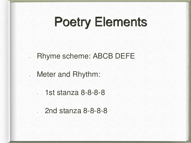 rhyme scheme abcb Traditional ballad rhyme scheme abcb lyrical ballad abab features of the ballad from engl 311 at mcgill.