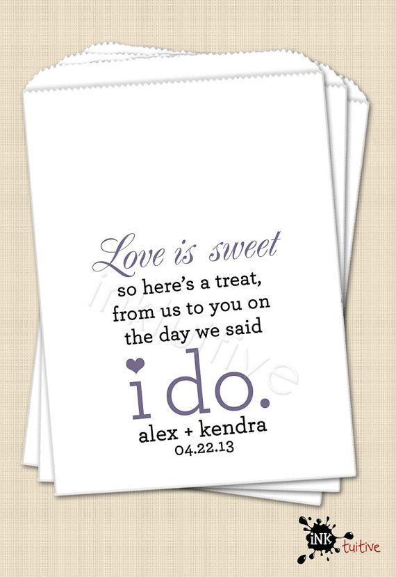 wedding sayings for favors - Wedding Decor Ideas