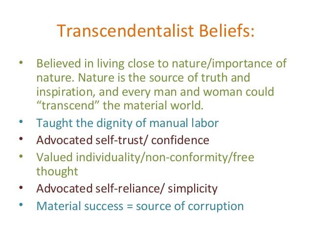 transcendentalism poems