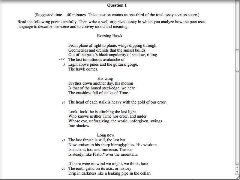 ap poems ap poetry essay exam lesson 1 p 3 screencast o matic