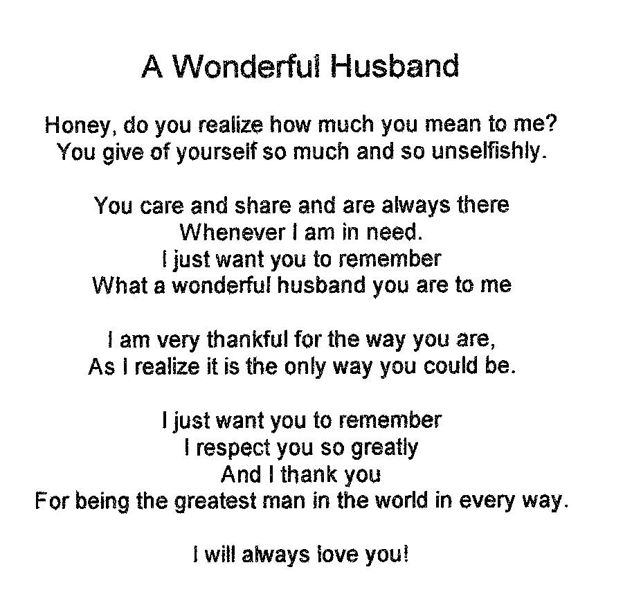 I Love My Husband Quotes Custom I Love You Husband Poems