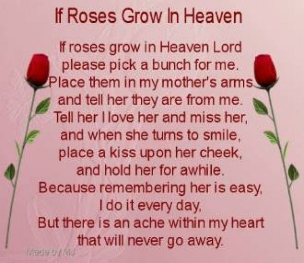 Passing away Poems