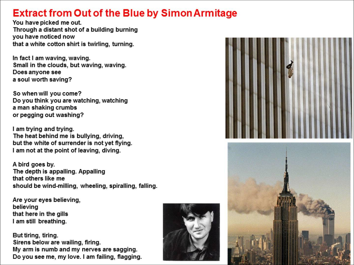 simon armitage about his person A reading of one of his best poems everything about 'poem' by simon armitage is understated the people in the poem's concluding couplet.