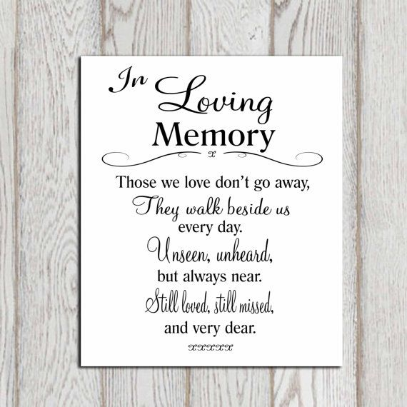 In Loving Memory Sayings And Quotes Amusing Memory Short Poems Poems