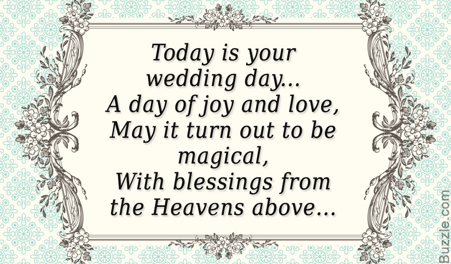 Wedding Congratulations Poems Best Wishes On Your