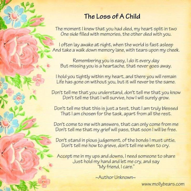 Quotes About Losing A Child Adorable Child Memorial Poems Poems