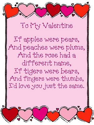 valentine day poems, Ideas