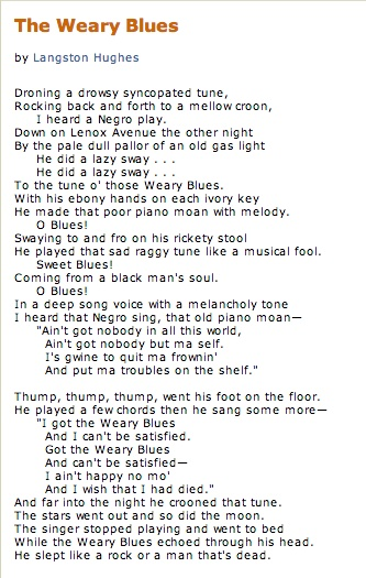 theme for english b by langston hughes essay Langston hughes's poem theme for english b is a complicated piece, which is able to stimulate the mind of any person that gives it a chance.