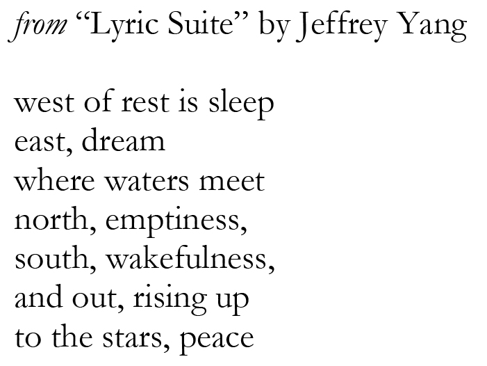 how to tell if a poem is lyrical