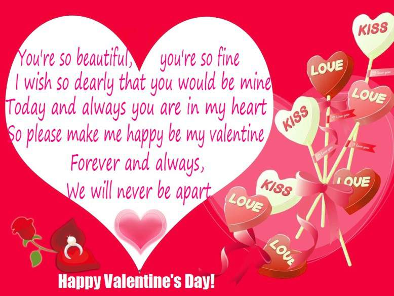 Love Quotes On Valentines Day For Her Endearing Velentine Poems