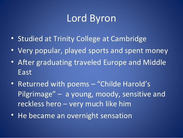 an overview of the lord byrons poem euthanasia Answer to a beautiful poem (montgomery true, the common lot) euthanasia (when time, or soon or late on hearing that lady byron was ill.