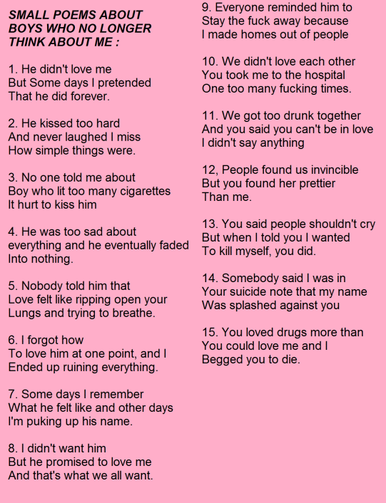 Nice Sad Love Poems For Your Boyfriend That Will Make Him Cry ...