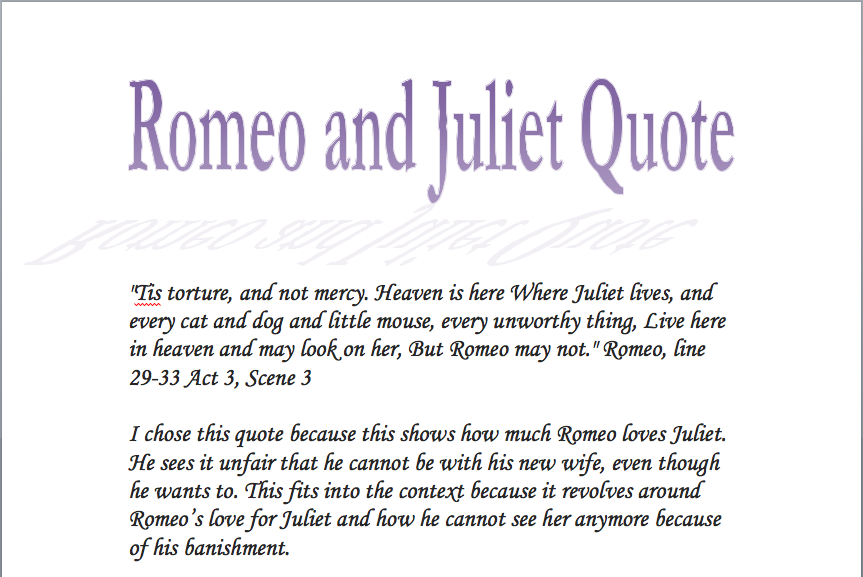 romeo and juliet poems