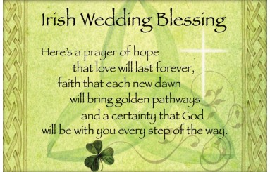 Stunning Traditional Irish Wedding Blessing Contemporary - Styles ...